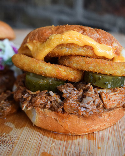 Shredded Beef and Pork Sandwiches