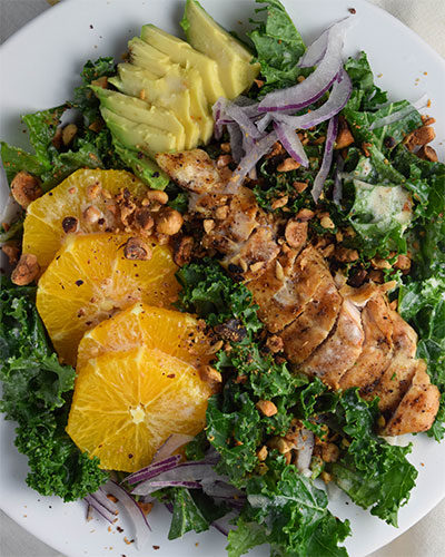 Curly Kale and Orange Salad